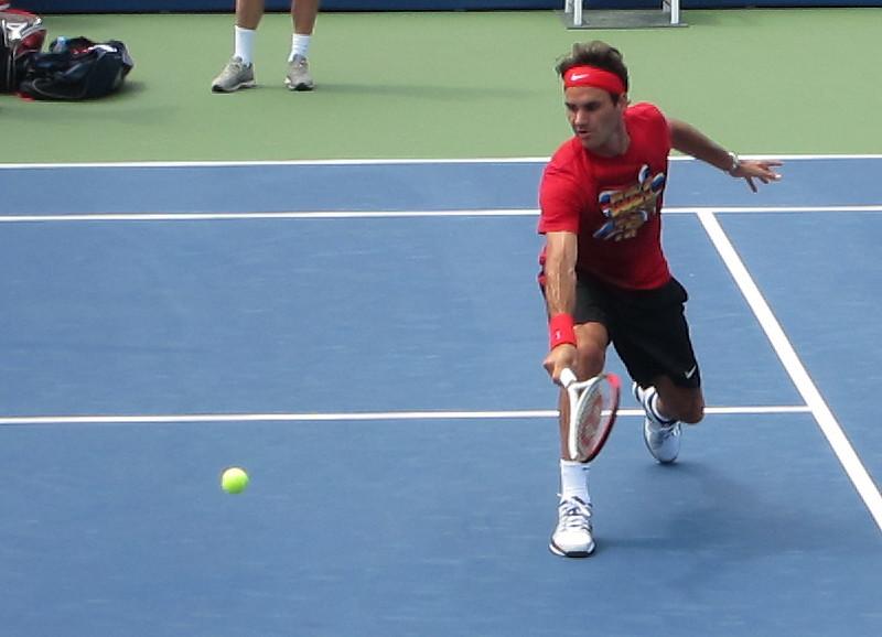 Roger Federer Volley US Open
