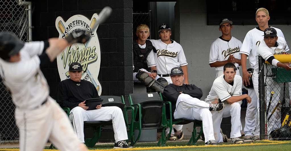 . Northview head coach Dan Roddy in the fifth inning of a prep baseball game against San Dimas at Northview High School in Covina, Calif., on Wednesday, March 26, 2014. San Dimas won 2-0. (Keith Birmingham Pasadena Star-News)