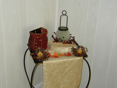 Harvest Candlescapes - old house