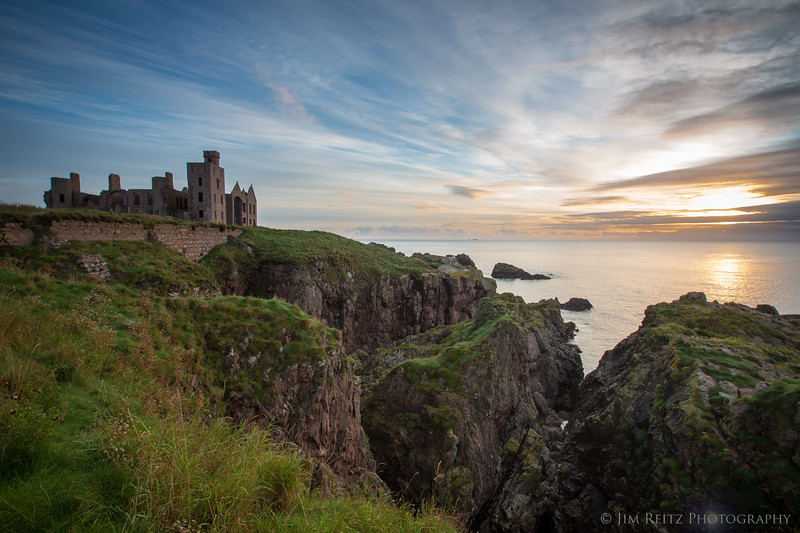 Slains Castle in Cruden Bay, Scotland.
