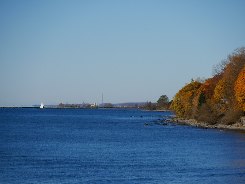Looking west toward Cobourg Harbour from Lucas Point Park