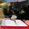 2.87ctw old European Cut Diamond Spray Ring GIA J SI1 12