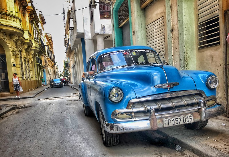 52 Chevy on the skinny back streets of Old Havana....