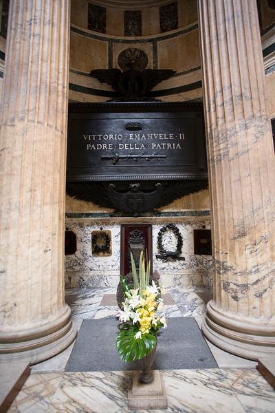 Tomb of the Italian king Vittorio Emanuele II, Pantheon, Rome