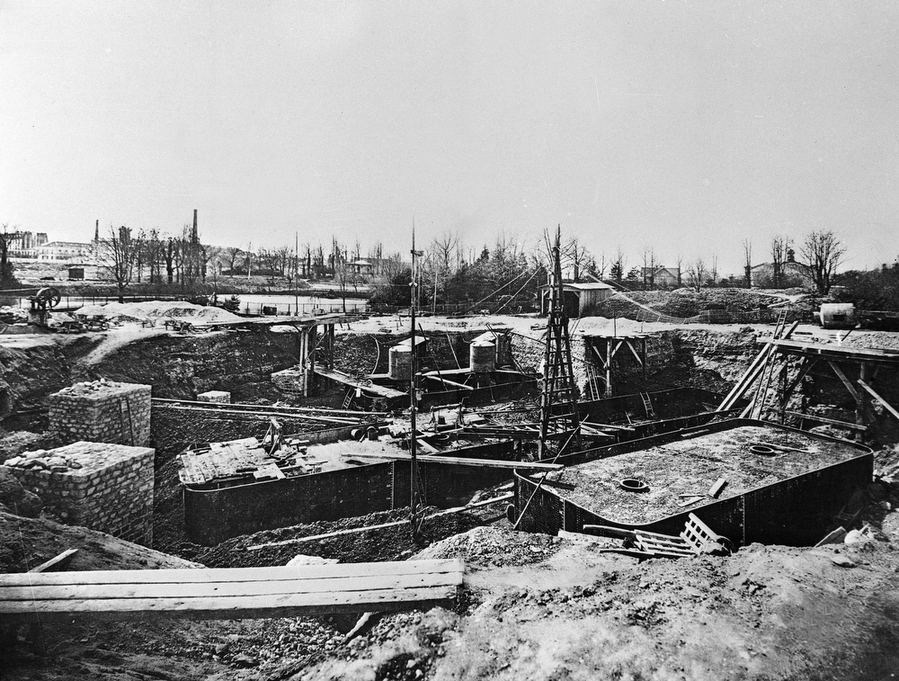 . The bottom of what will be the Eiffel Tower is under construction in 1887, in Paris. (AP Photo)