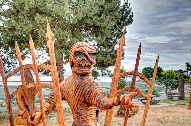 Mummy. Chainsaw Sculpture Competition. Campbell River British Columbia