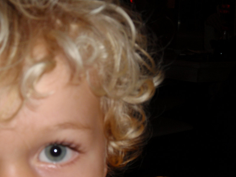 Insisting I take a picture of his eye. Then he demanded to see it over and over.  ah 2 year olds.