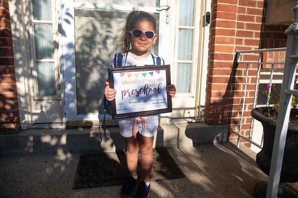 Moneli's 1st day of pre-school