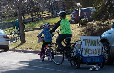2020 04 26: Walk Around the Neighborhood, Bicycle Parade