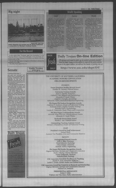 Daily Trojan, Vol. 133, No. 38, March 17, 1998