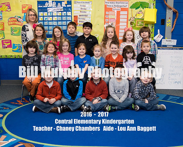 2016-2017 Central Elementary Classroom Groups