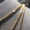 Vintage Yellow Gold Long Chain with Pearl Accents 4