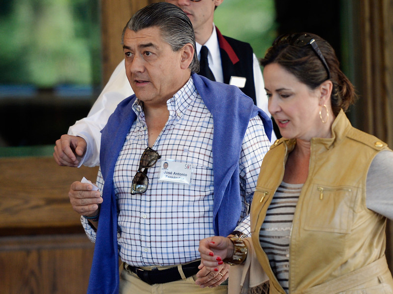 . Mexican businessman José Antonio Fernández, chairman and CEO of FEMSA, the largest beverage company in Latin America, attends the Allen & Co., annual conference on July 9, 2013 in Sun Valley, Idaho. The resort will host corporate leaders for the 31th annual Allen & Co. media and technology conference where some of the wealthiest and most powerful executives in media, finance, politics and tech gather for weeklong meetings which begins Tuesday. Past attendees included Warren Buffett, Bill Gates and Mark Zuckerberg.  (Photo by Kevork Djansezian/Getty Images)