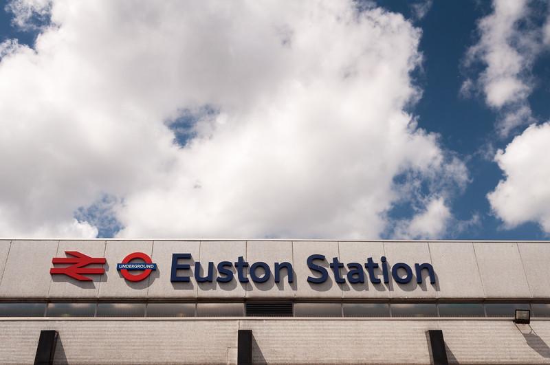 Euston Station sign