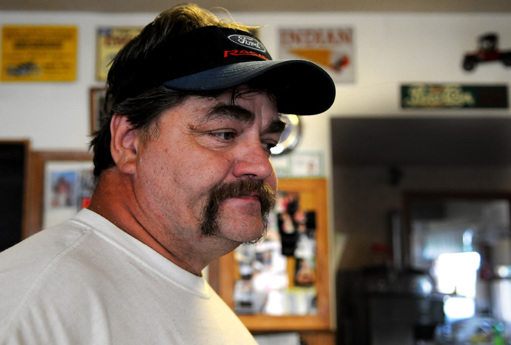 """. \""""It\'s a tough situation,\"""" said Allen Swanson, owner of Al\'s Diner in Centuria, Wis. Swanson said he didn\'t know the family, but Isaiah\'s father did work on Swanson\'s son\'s car about a week ago. (Pioneer Press: Jean Pieri)"""