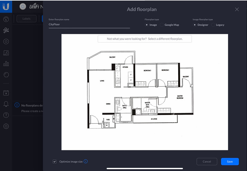 Setting up Floor Plan in the UniFi Controller