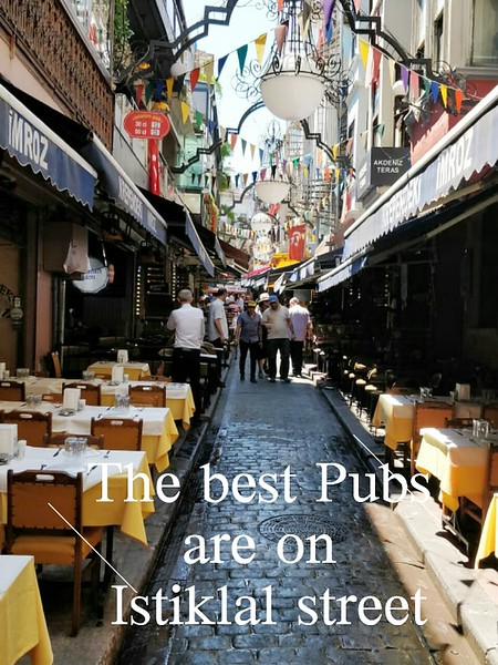 image of restaurants in an alley