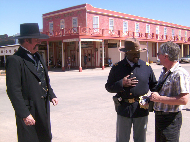 "ARIZONA BUFFALO SOLDIERS, MESA, AZ...""Wyatt Earp Days"", Tombstone, Greater Southern Arizona (Memorial Weekend). Buffalo Soldiers of the AZ Territory - Ladies and Gentlemen of the Regiment having fun.  May 29, 2010"