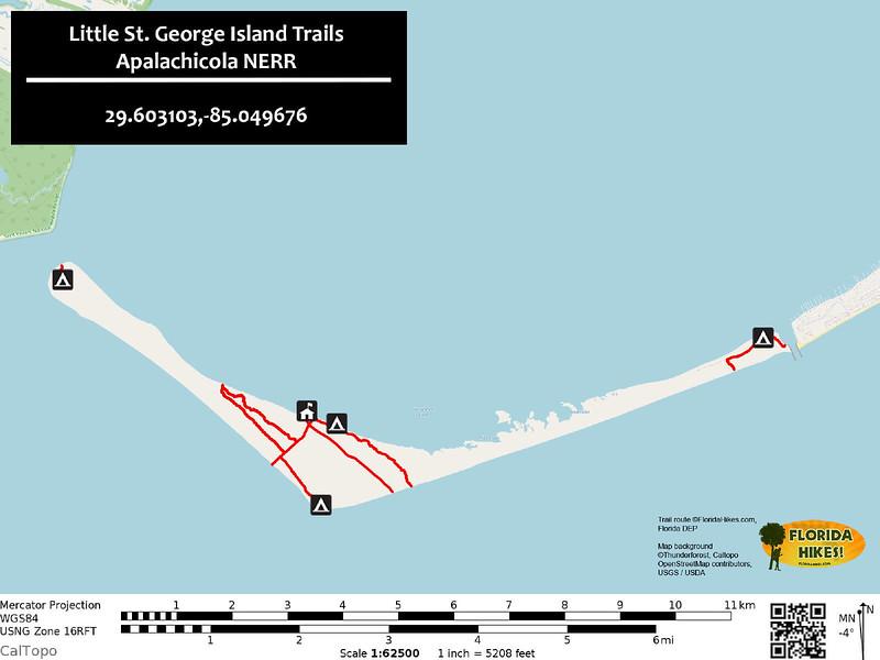 Little St George Island Trail Map