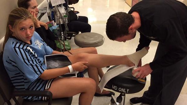 Katie Gets a Splint For Her Broken Ankle (Boring)