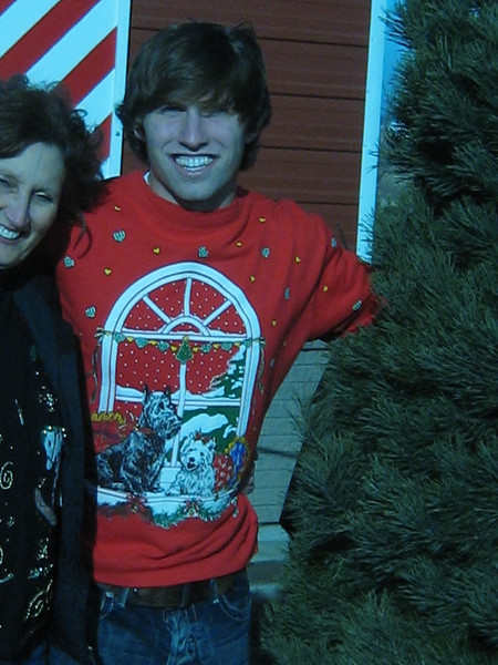 And the winner of the ugly sweater conters it---------NICK