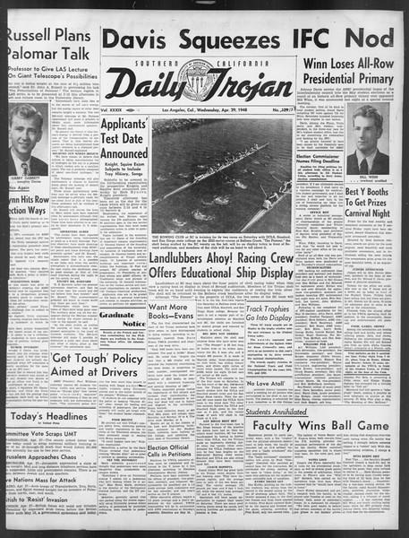 Daily Trojan, Vol. 39, No. 128, April 28, 1948