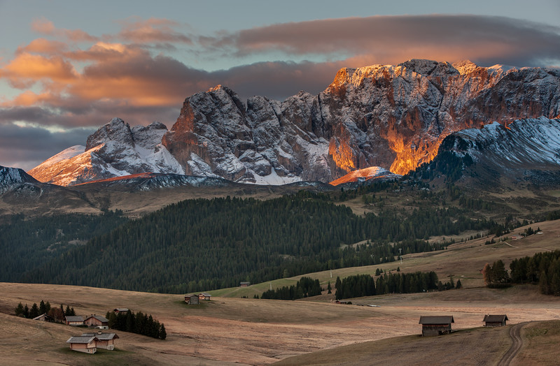 Burning mountain, Dolomites