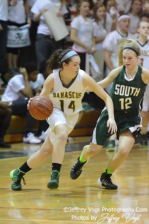 03-08-2014 Damascus HS vs South Hagerstown HS Girls Varsity Basketball Playoffs, Photos by Jeffrey Vogt Photography