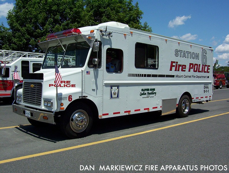 MOUNT CARMEL FIRE POLICE UNIT 6 1988 CHEVY TRAFFIC UNIT