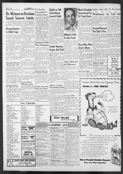 Daily Trojan, Vol. 42, No. 40, November 13, 1950
