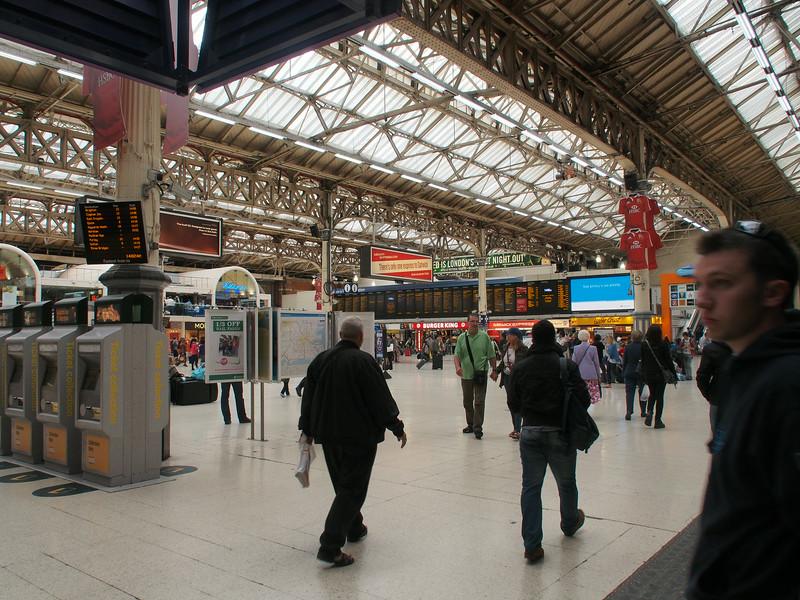 June 23/13 - Inside Victoria Station