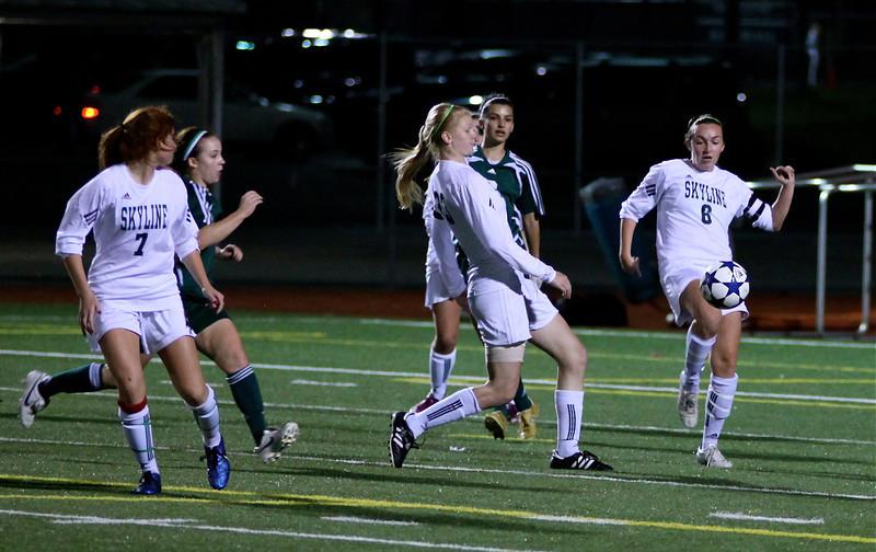 Reagan Quigley, Sophie Chakalo  Woodinville High Girls Varsity Soccer verse Skyline High October 20, 2011, ©Neir