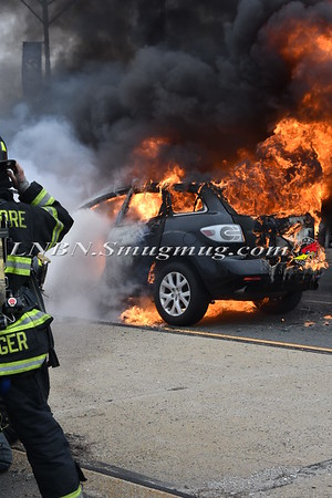 Bellmore F.D. Car Fire W/B Sunrise Highway at Bellmore Avenue 4-24-17