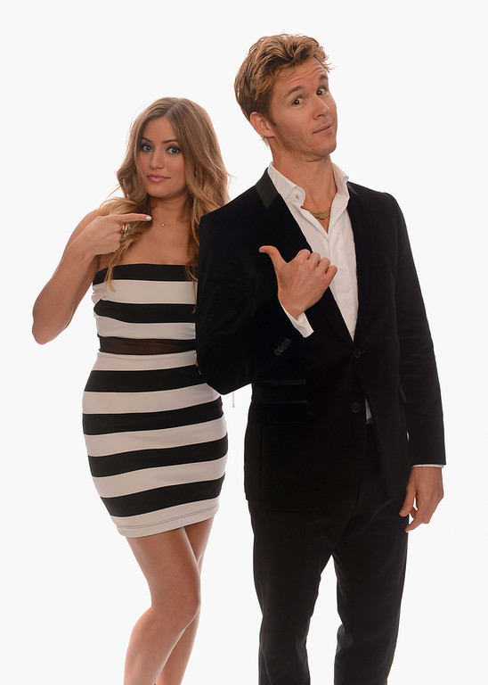 . Internet personality Justine Ezarik and actor Ryan Kwanten pose for a portrait in the TV Guide Portrait Studio at the 3rd Annual Streamy Awards at Hollywood Palladium on February 17, 2013 in Hollywood, California.  (Photo by Mark Davis/Getty Images for TV Guide)