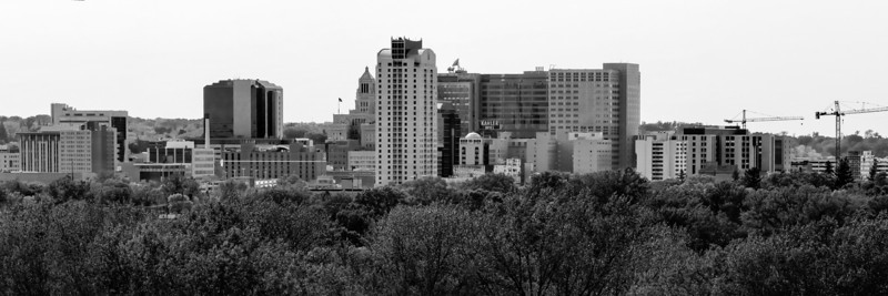 Rochester Skyline - Looking West - Black and White.jpg