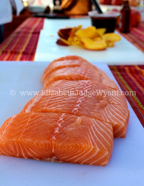 Salmon, Easton Farmers' Market 8/6/2014