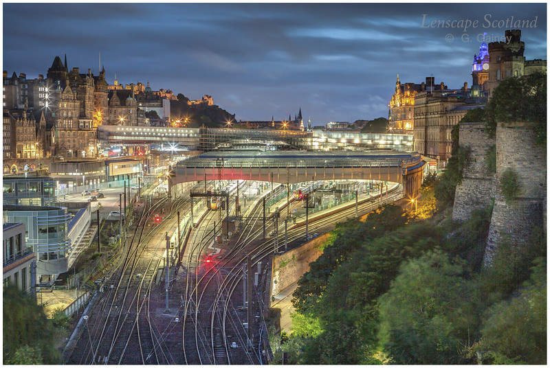 Waverley Station and North Bridge from Regent Road (1)