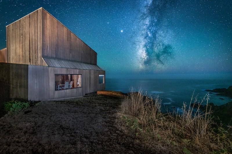 Condo One & Milky Way at Night