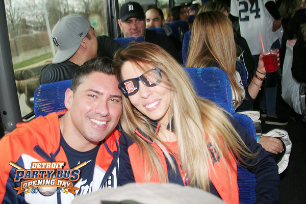 Tigers Party Bus Opening Day 2017