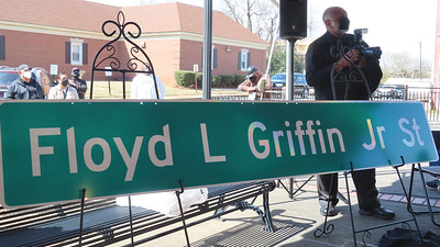 Griffin street renaming ceremony