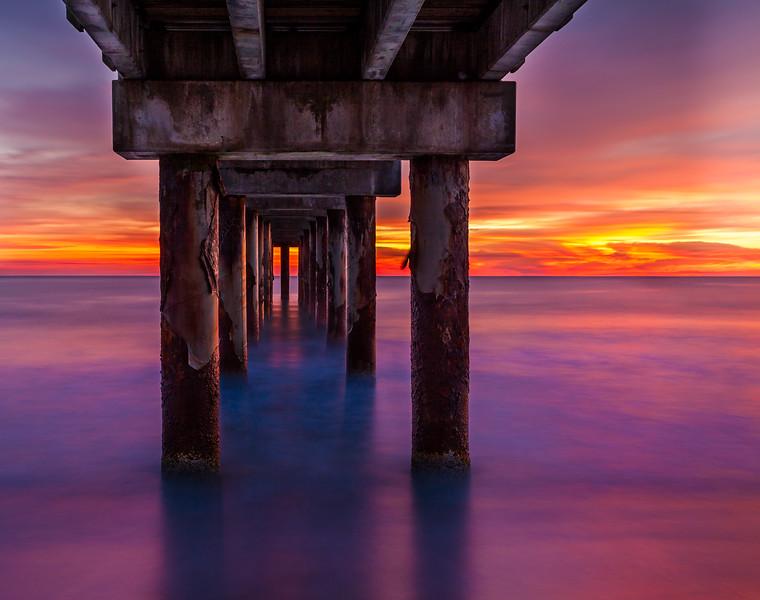 Under the St. Augustine Pier, Florida