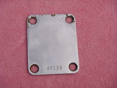 1959 Fender Telecaster / stratocaster Neck plate