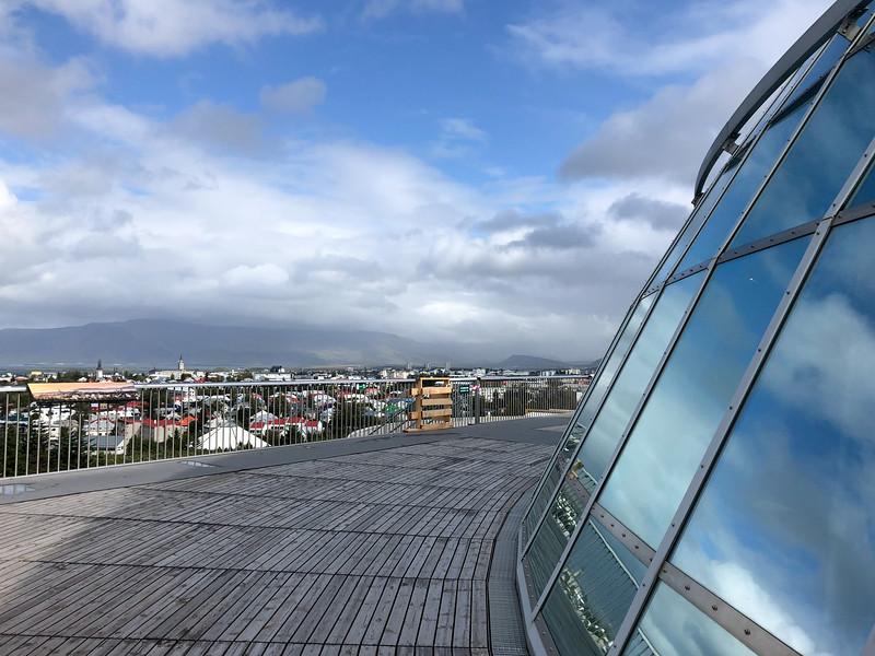 Perlan observation deck in Reykjavik