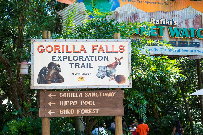 Gorilla Falls Exploration Trail - New Sign - Animal Kingdom Walt Disney World