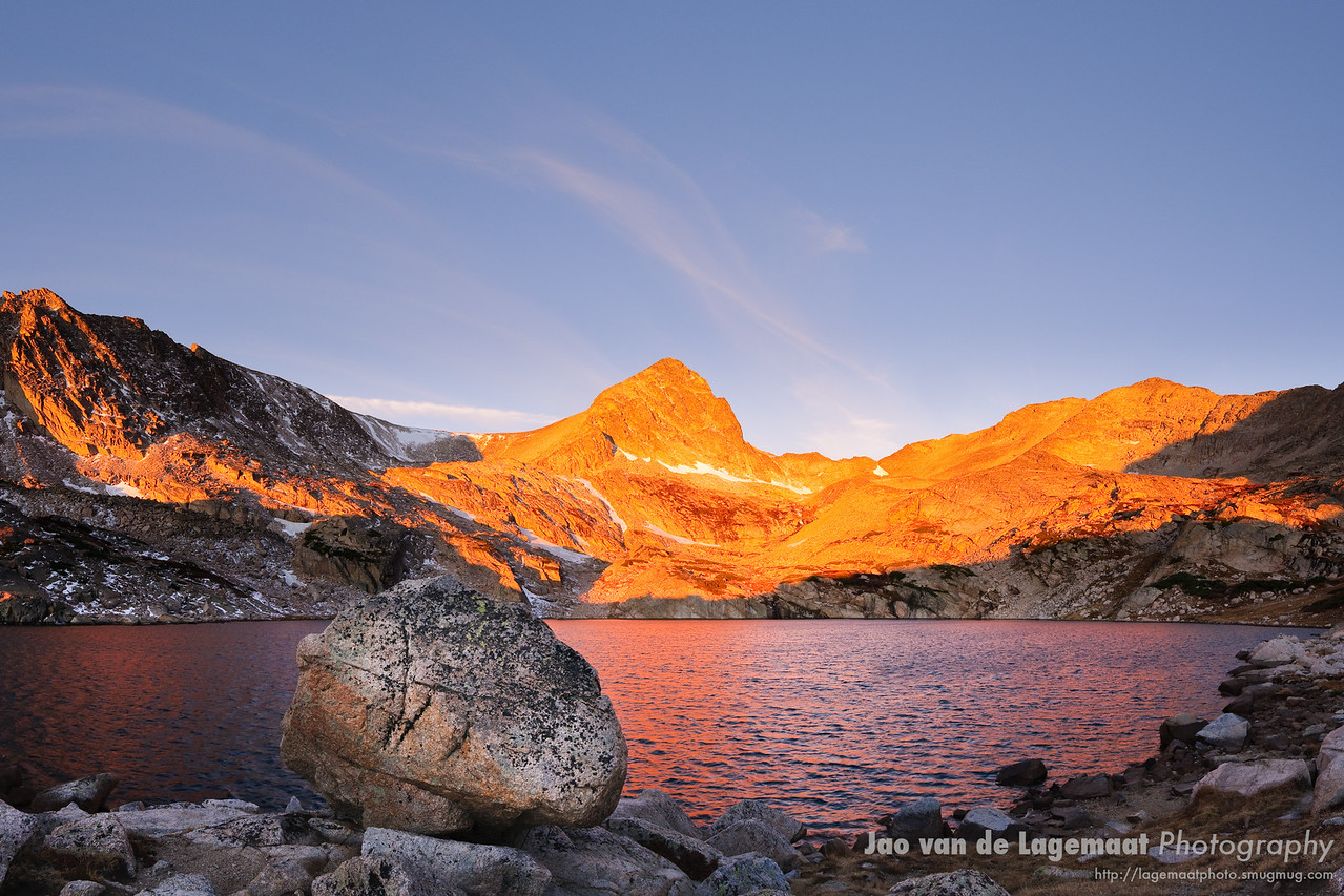 Sunrise at Blue Lake in the Indian Peaks Wilderness