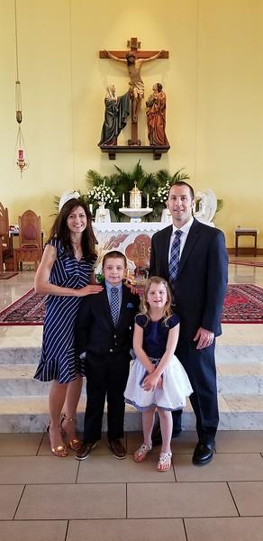 2018 April  Adam's 1st Communion