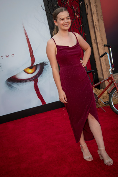 "WESTWOOD, CA - AUGUST 26: Megan Charpentier attends the Premiere Of Warner Bros. Pictures' ""It Chapter Two"" at Regency Village Theatre on Monday, August 26, 2019 in Westwood, California. (Photo by Tom Sorensen/Moovieboy Pictures)"