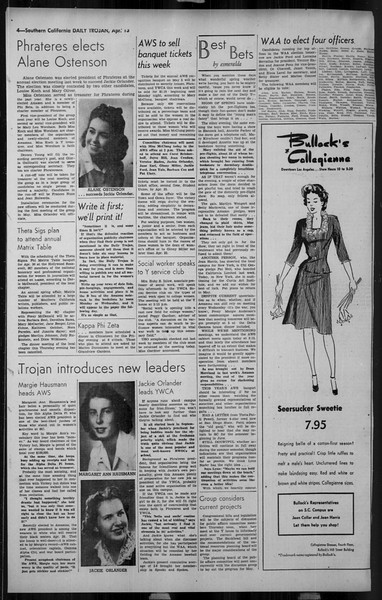 Daily Trojan, Vol. 34, No. 125, April 13, 1943