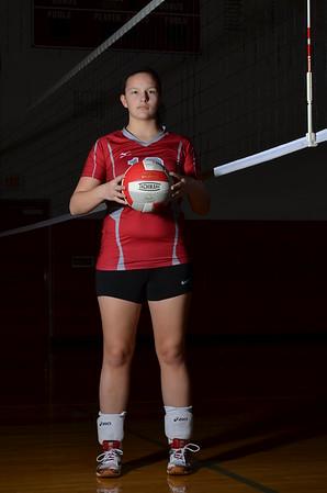Girls volleyball Portraits