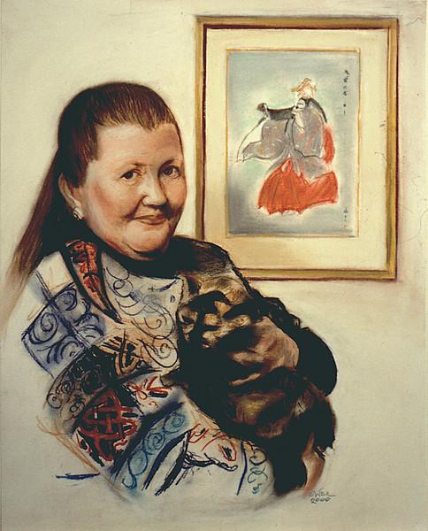 Portrait of Kiri and Cat